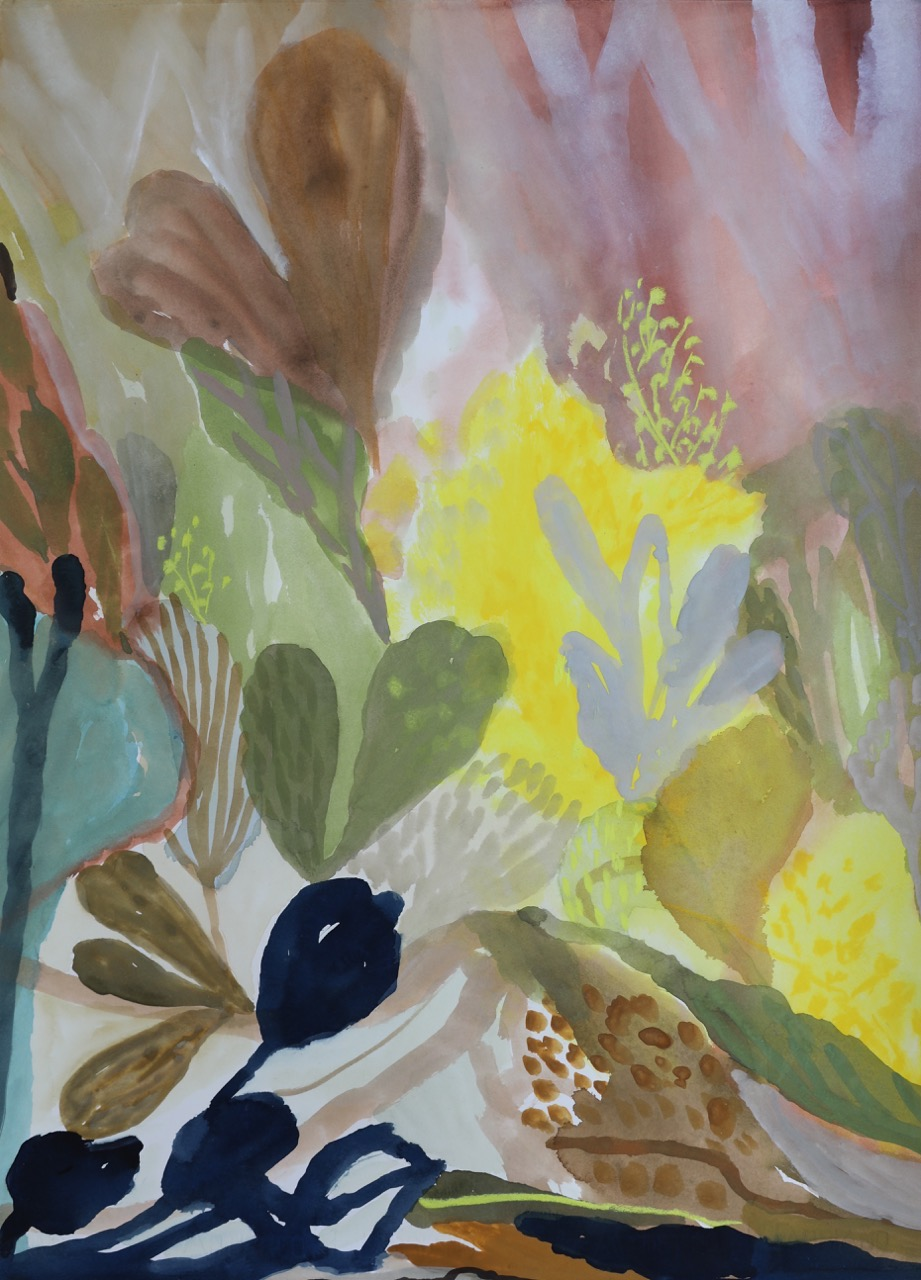 STILL LIFE WITH WATTLE AND BANKSIA. SOLD